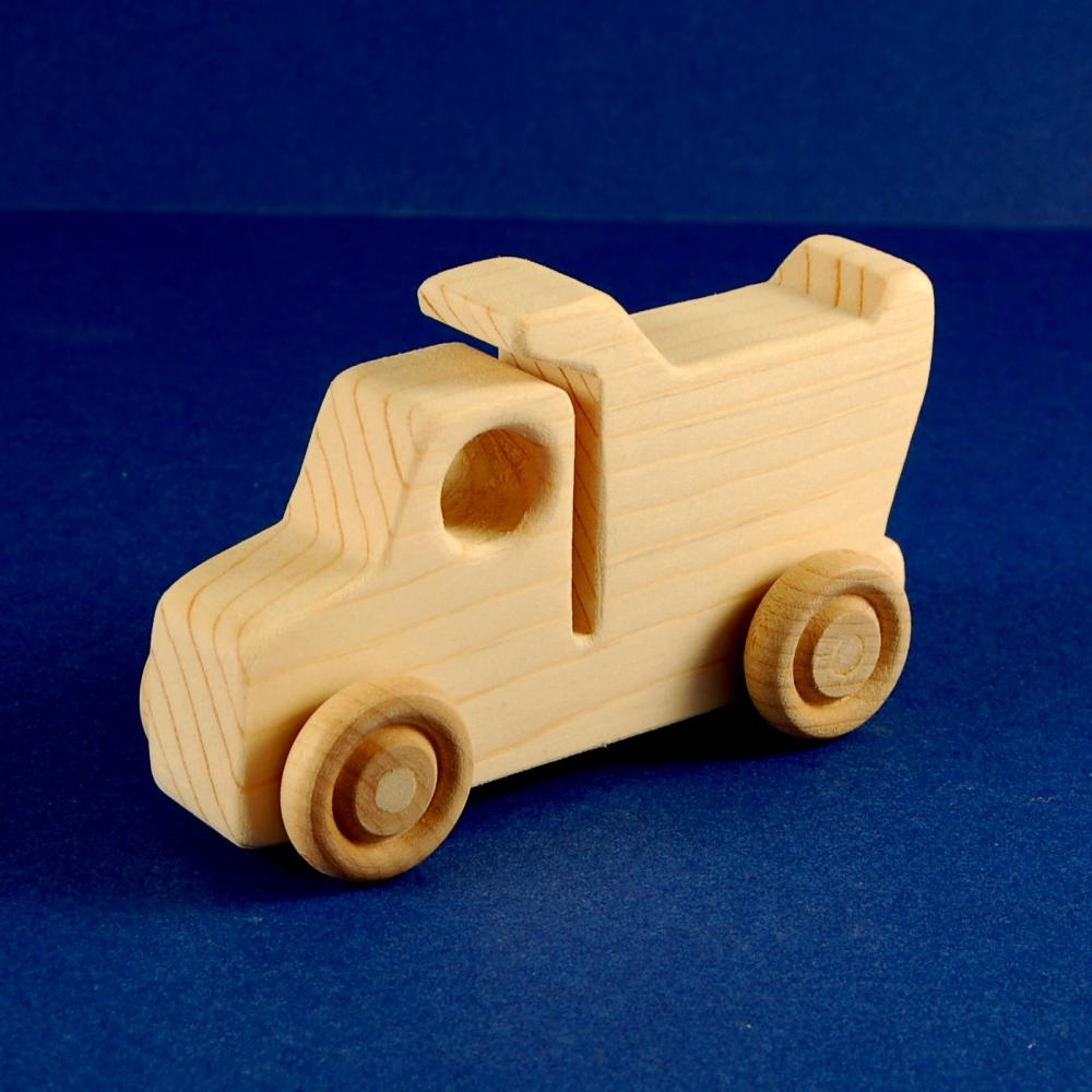 Dump Truck Party Favors - Package of 10 Wood Toy Dump Trucks
