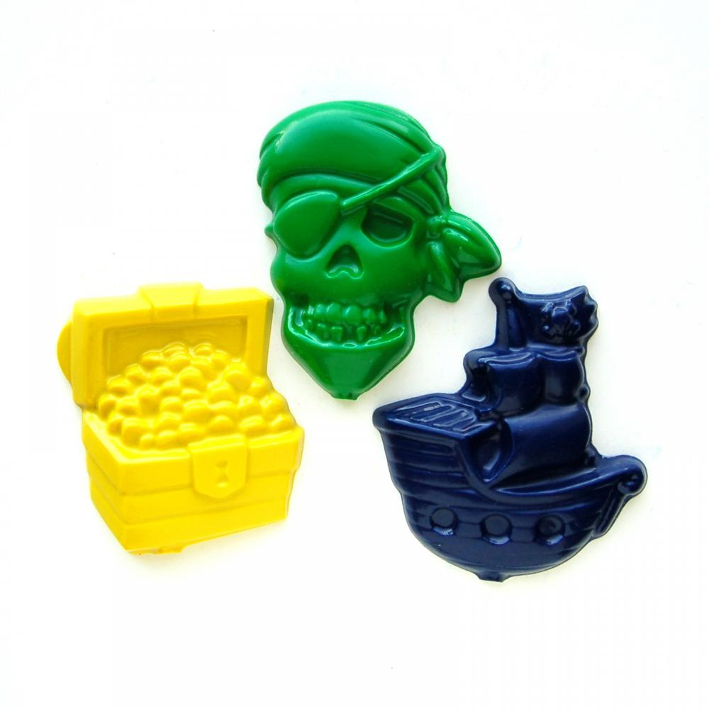 Pirate Party Favors - Package of 12 Recycled Shaped Crayons