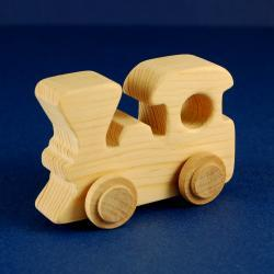 Train Party Favors - Package of 10 Wood Toy Train Engines