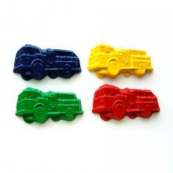 Fire Truck Party Favors - Package of 12 Firetruck Shaped Recycled Crayons