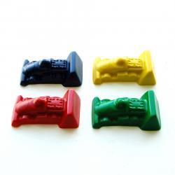 Race Car Party Favors - Package of 12 Race Car Shaped Color Crayons