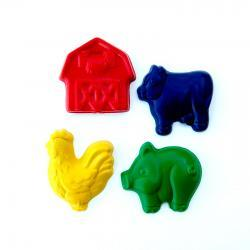 Farm Party Favors - Package of 12 Farm Animal Barn Shaped Crayons
