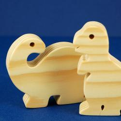 Dinosaur Party Favors - Package of 10 Wood Toy Dinosaurs