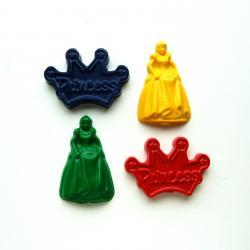 Princess Party Favors - Package of 12 Princess and Crown Shaped Crayons